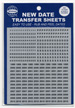 Whitman Black Date Transfer Sheets