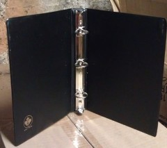 3-Ring Sales Sheet Binder in Black
