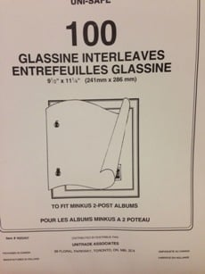Minkus 2-Post Glassine Interleaving Pages