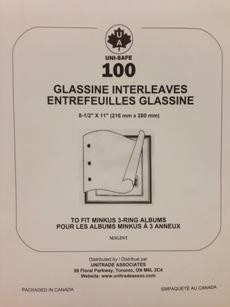 Minkus 3-Ring Glassine Interleaving Pages