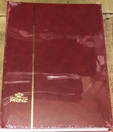 Prinz Stock Book (#2032), 32 Double-Sided White Pages, Red Cover