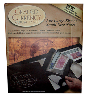 Whitman Graded Currency Album Refill Pages