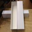 Single Row 14.5 Inch White Slab Box